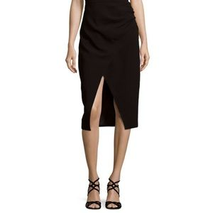 CMEO Collective Be There skirt front slit black S